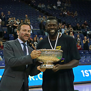 London, England, UK. 24th September 2017. London Lions won the inaugural Betway British Basketball All-Stars Championship, beating Newcastle Eagles 26-25 in the final at The O2.