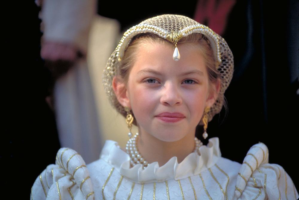 Young girl at Renaissance Fair  Salon de Provence, France