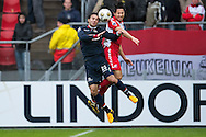 Onderwerp/Subject: FC Utrecht - Willem II - Eredivisie<br /> Reklame:  <br /> Club/Team/Country: <br /> Seizoen/Season: 2012/2013<br /> FOTO/PHOTO: Mark VAN DER MAAREL (R) of FC Utrecht in duel with Gaby JALLO (L) of Willem II. (Photo by PICS UNITED)<br /> <br /> Trefwoorden/Keywords: <br /> #04 $94 ±1354626289759<br /> Photo- & Copyrights © PICS UNITED <br /> P.O. Box 7164 - 5605 BE  EINDHOVEN (THE NETHERLANDS) <br /> Phone +31 (0)40 296 28 00 <br /> Fax +31 (0) 40 248 47 43 <br /> http://www.pics-united.com <br /> e-mail : sales@pics-united.com (If you would like to raise any issues regarding any aspects of products / service of PICS UNITED) or <br /> e-mail : sales@pics-united.com   <br /> <br /> ATTENTIE: <br /> Publicatie ook bij aanbieding door derden is slechts toegestaan na verkregen toestemming van Pics United. <br /> VOLLEDIGE NAAMSVERMELDING IS VERPLICHT! (© PICS UNITED/Naam Fotograaf, zie veld 4 van de bestandsinfo 'credits') <br /> ATTENTION:  <br /> © Pics United. Reproduction/publication of this photo by any parties is only permitted after authorisation is sought and obtained from  PICS UNITED- THE NETHERLANDS