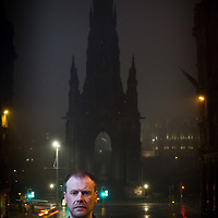 Alex Hewitt<br /> Edinburgh, UK<br /> http://www.alexhewitt.co.uk<br /> <br /> Neil Broadfoot, author of the debut novel 'Falling Fast' from Scottish publisher Saraband. The book is set around events at the Scott monument in Edinburgh.