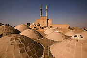 Traditional domes (called gonbads on a rooftop at Amir Chakhaq Complex. Yazd, Iran.