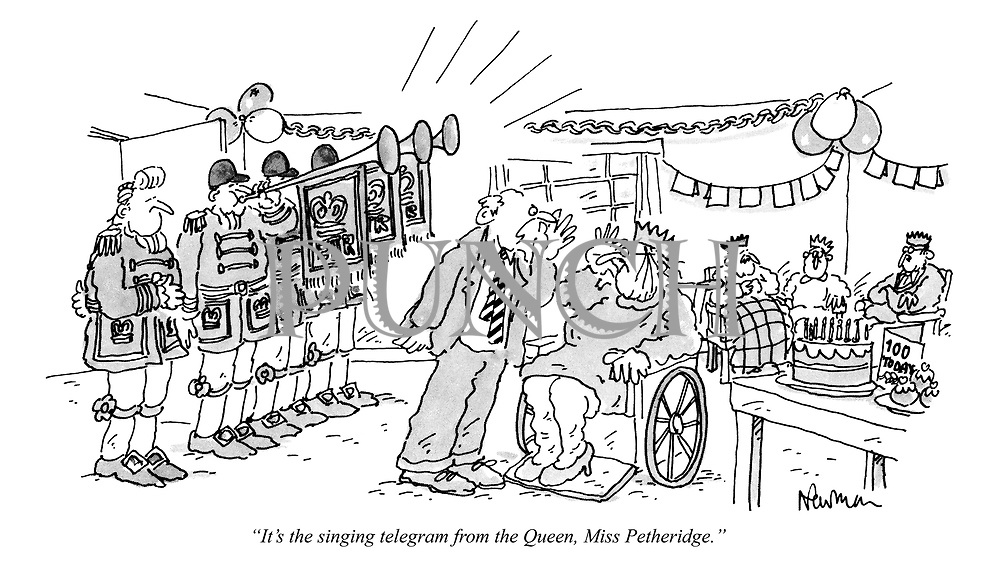 """It's the singing telegram from the Queen, Miss Petheridge."""
