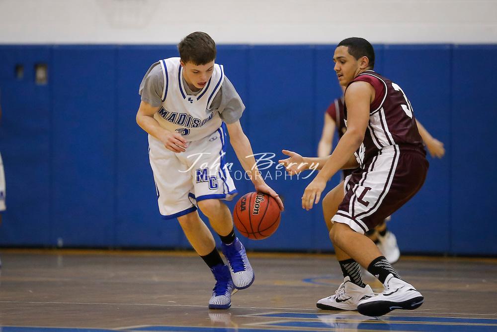 December 01, 2014.  <br /> MCHS JV Boys Basketball vs Luray.  Madison defeats Luray 51-21.