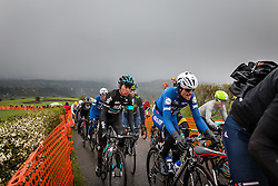 Julien Vermote (BEL,18) of Etixx - Quick Step and Sebasti&aacute;n Henao (COL,63) of Team Sky in the peloton at C&ocirc;te de La Redoute with 48 km to go, the 102th edition of Li&egrave;ge-Bastogne-Li&egrave;ge race running 253 km from Li&egrave;ge to Li&egrave;ge, Belgium, 24 April 2016.<br /> Photo by Pim Nijland / PelotonPhotos.com<br /> <br /> All photos usage must carry mandatory copyright credit (&copy; Peloton Photos | Pim Nijland)