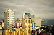 Philippines, Manila. High rise buildings in Malate.