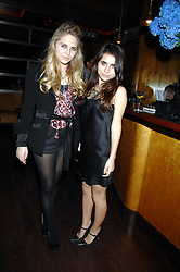 Left to right, ESME HOUDSER and ASSISI JACKSON daughter of Jade Jagger at a party hosted by Belvedere Vodka and Jade Jagger to launch The Belvedere Jagger Dagger cocktail held at Automat, Berkeley Street, London on 8th May 2008.<br /> <br /> NON EXCLUSIVE - WORLD RIGHTS ******(EMBARGOED FOR PUBLICATION IN UK MAGAZINES UNTIL 2 MONTHS AFTER CREATE DATE AND TIME)****** www.donfeatures.com  +44 (0) 7092 235465