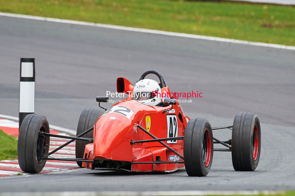 #42 Tom Hodgson Swift SC94 during Avon Tyres Formula Ford 1600 Northern Championship - Prost 89 Race 2 as part of the BRSCC Fun Cup Oulton Park 17th October 2015 at Oulton Park, Little Budworth, Cheshire, United Kingdom. October 17 2015. World Copyright Taylor/PSP. Copy of publication required for printed pictures.  Every used picture is fee-liable. http://archive.petertaylor-photographic.co.uk