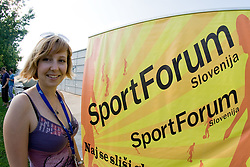 Klavdija Gorsek at SportForum picnic during BeachMaster 2010 on July 17, 2010, in Ptuj, Slovenia. (Photo by Matic Klansek Velej / Sportida)