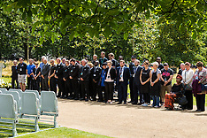 2015-07-07 Victims of 7/7 bombings remembered during minute's silence at Hyde Park memorial.