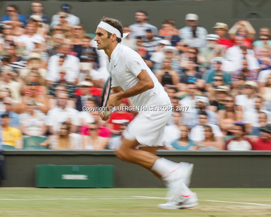 ROGER FEDERER (SUI), Bewegungsunschaerfe,Mitzieher<br /> <br /> Tennis - Wimbledon 2017 - Grand Slam ITF / ATP / WTA -  AELTC - London -  - Great Britain  - 10 July 2017.