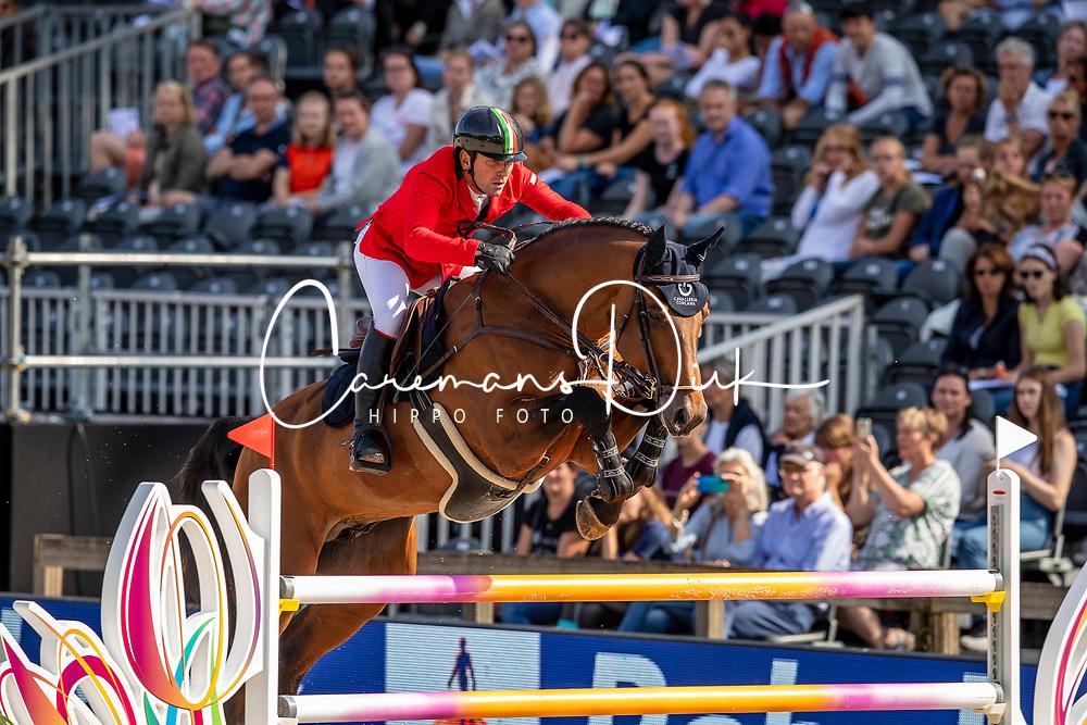 Pisani Riccardo, ITA, Chaclot<br /> European Championship Jumping<br /> Rotterdam 2019<br /> © Dirk Caremans<br /> Pisani Riccardo, ITA, Chaclot