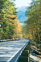 Washington State Highway 2 near Skykomish Washington in October USA&#xA;<br />