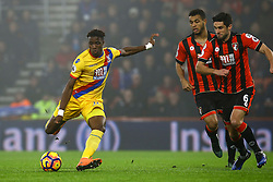 Wilfried Zaha of Crystal Palace shot goes wide - Mandatory by-line: Jason Brown/JMP - 31/01/2017 - FOOTBALL - Vitality Stadium - Bournemouth, England - Bournemouth v Crystal Palace - Premier League