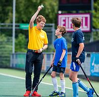 AMSTELVEEN - groene kaart . Winnaars Jongens Jong, Rijnlands Lyceum Wassenaar.  Zij winnen na shoot outs van Stedelijk Gymnasium Leiden. NK Schoolhockey 2019 ,  COPYRIGHT  KOEN SUYK
