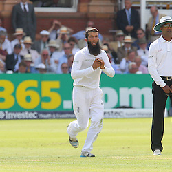 England's Moeen Ali during the first day of the Investec 2nd Test match between England and India at Lords, London, 17th July 2014 © Phil Duncan | SportPix.org.uk