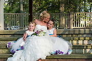 bride and flower girls by Tallmadge wedding photographer, Akron wedding photographer Mara Robinson Photography