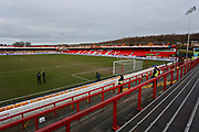 General view inside The Wham Stadium during the The FA Cup fourth round match between Accrington Stanley and Derby County at the Fraser Eagle Stadium, Accrington, England on 26 January 2019.