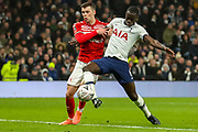 Tottenham Hotspur defender Davinson Sánchez (6) tries for goal during the FA Cup third round replay match between Tottenham Hotspur and Middlesbrough at Tottenham Hotspur Stadium, London, United Kingdom on 14 January 2020.