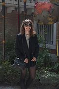 ANNIE MORRIS OUTSIDE BRITISH PAVILION,  Venice Biennale, 10 May 2017