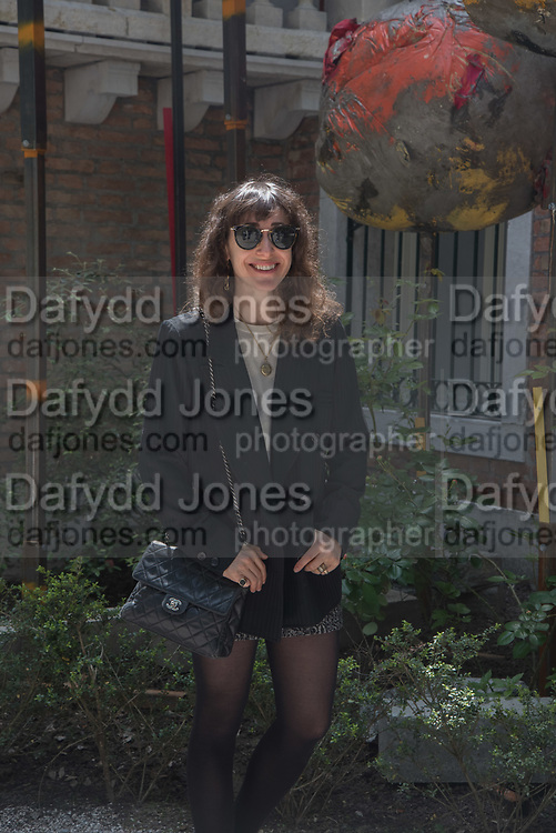ANNIE MORRIS OUTSIDE BRITISH PAVILION,  Venice Biennale, 10 May 2017