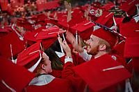 Students celebrate graduation.