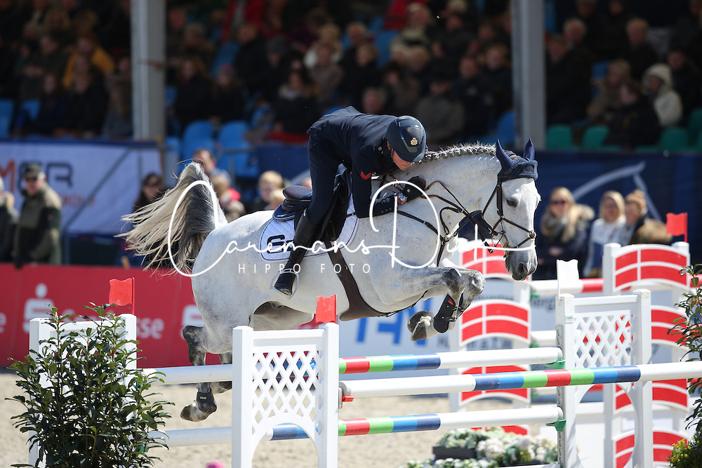 De Luca Lorenzo, (ITA), Limestone Grey<br /> CSI4* Grand Prix DKB-Riders Tour<br /> Horses & Dreams meets Denmark - Hagen 2016<br /> © Hippo Foto - Stefan Lafrentz
