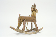 little horse toy made from wood pieces