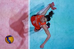08–01-2020 NED: Olympic qualification tournament women, Apeldoorn<br /> Bulgaria - Netherlands 0-3 / Floortje Meijners #8 of Netherlands