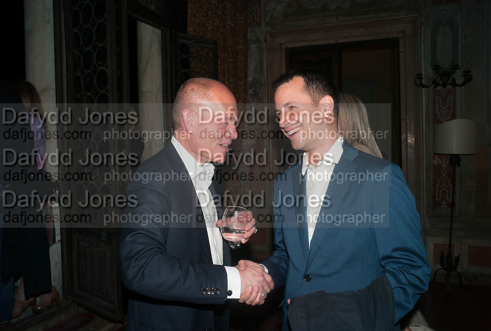 ARTHUR DUNCAN; MATTHEW SLOTOVER, Andrea Dibelius of the EMDASH Foundation hosts party to celebrate the Austrian Pavilion and artist Mathias Poledna at the Venice Biennale. Palazzo Barbaro, Venice. 30 May 2013<br /> <br /> <br /> Venice. Venice Bienalle. 28 May 2013