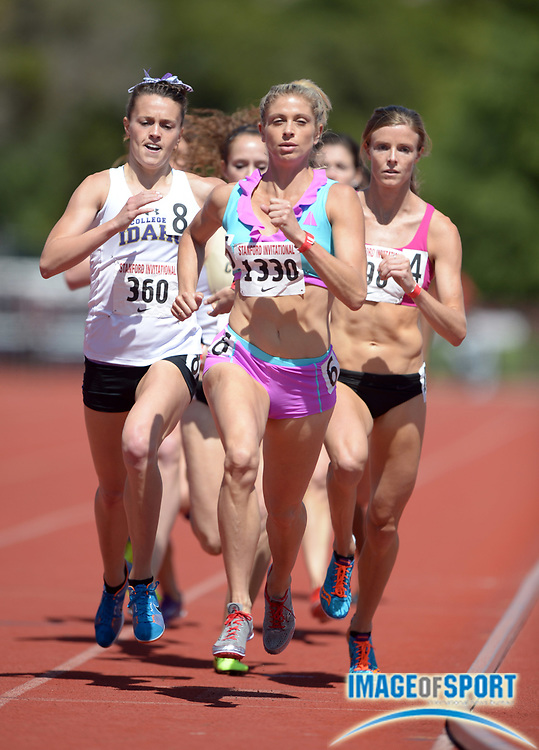 Apr 5, 2014; Stanford, CA, USA; Maggie Vessey wins the womens 800m in 2:03.58 in the 2014 Stanford Invitational at Cobb Track & Angell  Field.