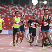 National Stadium, Sunday, May 2, 2016 &mdash; Marcus Ong, 29, was the King of 2.4 at the ActiveSG RED RUN 2.4.<br />