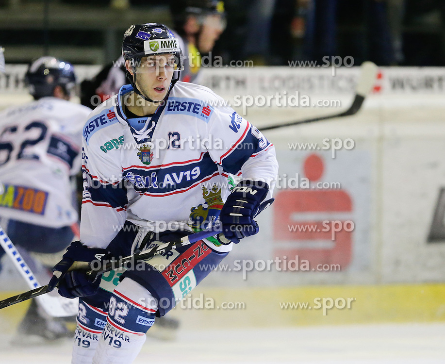 06.12.2015, Messestadion, Dornbirn, AUT, EBEL, Dornbirner Eishockey Club vs Fehervar AV 19, 28. Runde, im Bild Chris Francis, (Feherva AV19, #92)// during the Erste Bank Icehockey League 28th round match between Dornbirner Eishockey Club and Fehervar AV 19 at the Messestadion in Dornbirn, Austria on 2015/12/06, EXPA Pictures © 2015, PhotoCredit: EXPA/ Peter Rinderer