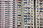 High rise tenement apartment blocks in Shanghai, China