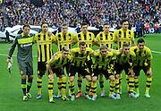 UEFA Champions League final football match between Borussia Dortmund and Bayern Munich at Wembley Stadium in London on May 25, 2013, Bayern Munich won the game 2-1 <br />Borussia Dortmund team picture<br />(Photo by: Piotr Hawalej)