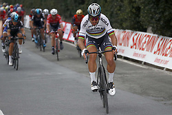 March 18, 2017 - San Remo, Italie - SANREMO, ITALY - MARCH 18 : SAGAN Peter (SVK) Rider of Team Bora - Hansgrohe is attacking on the Poggio climb during the UCI WorldTour 108th Milan - Sanremo cycling race with start in Milan and finish at the Via Roma in Sanremo on March 18, 2017 in Sanremo, Italy, 18/03/2017 (Credit Image: © Panoramic via ZUMA Press)