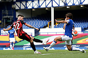 Bournemouth midfielder Harry Wilson (22) shoots at goal during the Premier League match between Everton and Bournemouth at Goodison Park, Liverpool, England on 26 July 2020.