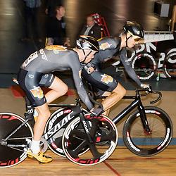 29-12-2015: Wielrennen: NK Baan: Alkmaar  ALKMAAR (NED) baanwielrennen  <br />Op de wielerbaan van Alkmaar streden de wielrenners om de nationale baantitels<br />Madison Nick Stopler en Jesper Asselman