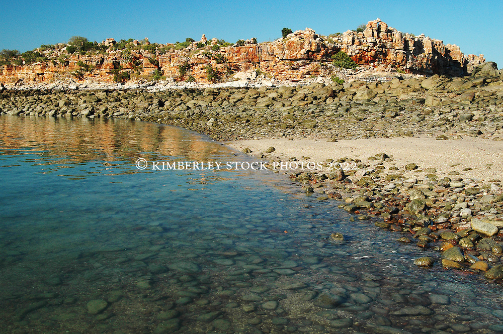 Clear water in the shallows at Hall Point in Deception Bay on the Kimberley coast.  Hall Point is an aggregation point for Humpback whales.