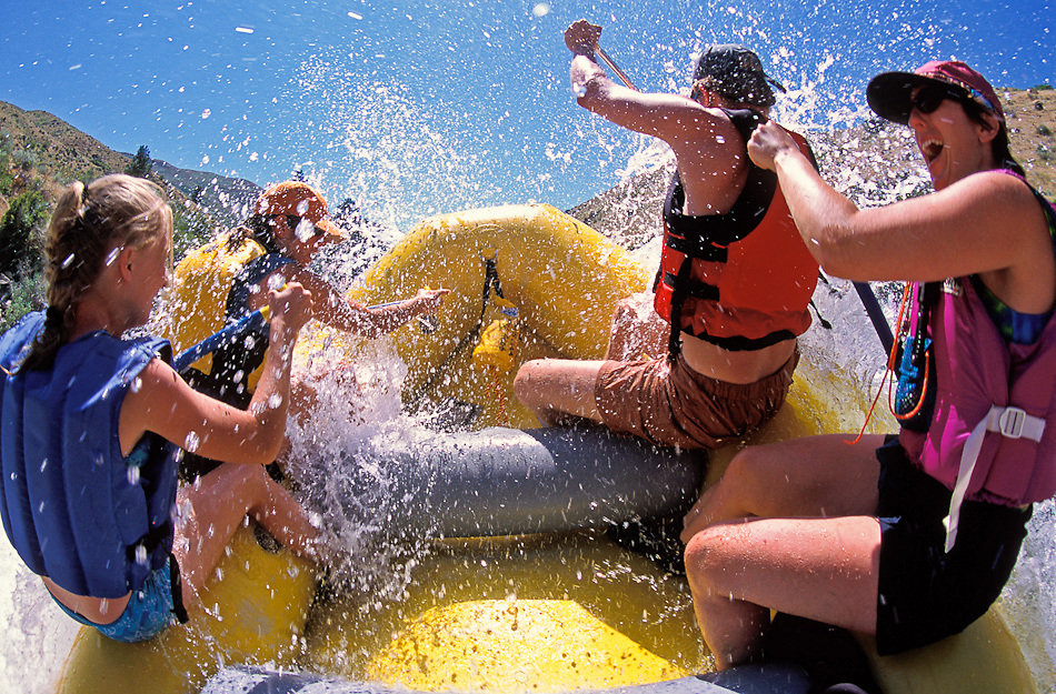 White water rafting on Payette River near Boise.