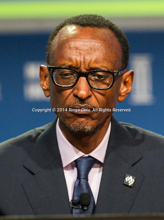 "H.E. Paul Kagame, president of the Republic of Rwanda, in a panel ""Global Overview: Where Does Growth Come From?"" during the Milken Institute Global Conference on Monday, April 28, 2014 in Beverly Hills, California. (Photo by Ringo Chiu/PHOTOFORMULA.com)"