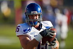 Sep. 18, 2009; Fresno, CA, USA; Boise State Broncos tight end Tommy Gallarda (85) before the game at Bulldog Stadium. Boise State defeated the Fresno State Bulldogs 51-34.