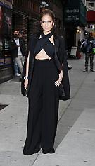 NOV 05 2014 Jennifer Lopez visits the Late Show With David Letterman