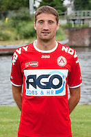 Kortrijk's Nebosja Pavlovic poses for the photographer during the 2014-2015 season photo shoot of Belgian first league soccer team KV Kortrijk, Tuesday 08 July 2014 in Kortrijk.