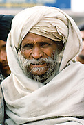 Old man wearing traditional turban in India