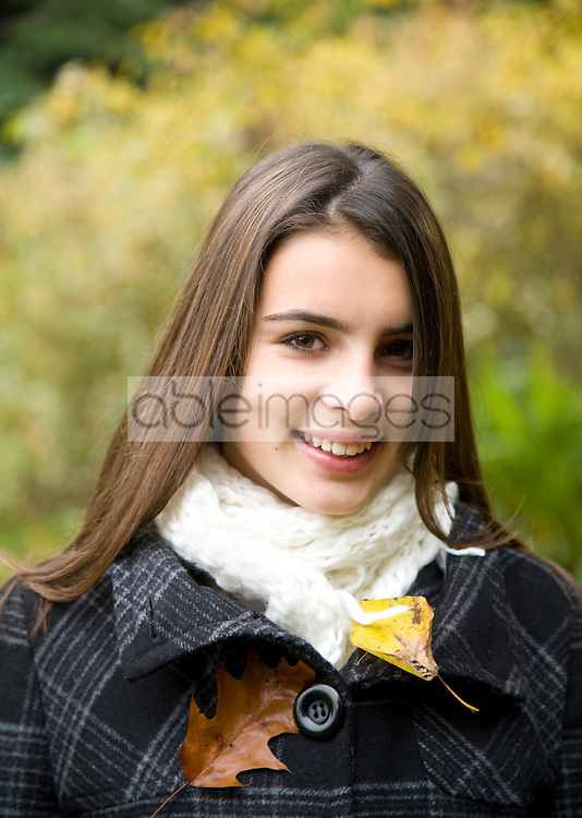 Portait of young beautiful teen