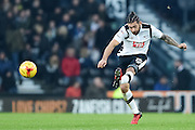 Derby County midfielder Bradley Johnson (15) during the EFL Sky Bet Championship match between Derby County and Norwich City at the iPro Stadium, Derby, England on 26 November 2016. Photo by Jon Hobley.