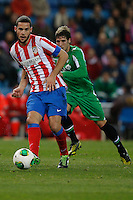 17.01.2013 SPAIN - Copa del Rey Matchday 1/2th  match played between Atletico de Madrid vs Real Betis Balompie (2-0) at Vicente Calderon stadium. The picture show  Mario Suarez Mata (Spanish midfielder of At. Madrid)