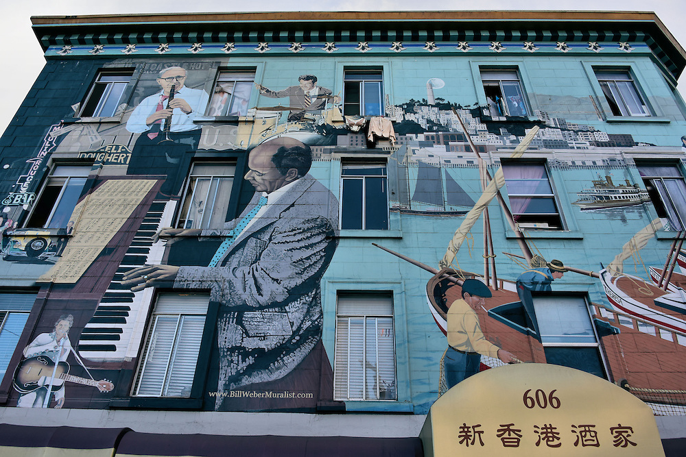 North Beach Jazz Mural by Bill Weber in San Francisco, California<br />