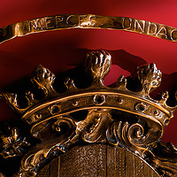 Seal of the Official Chamber of Commerce, Navigation and Industries of the Barcelona.<br /> This replica is in the entrance hall of the Headquarter Building dating from the Middle Age.
