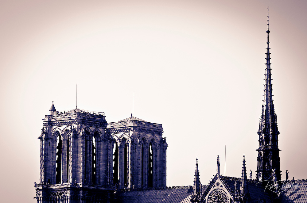 The bell towers of Notre Dame Cathedral, Paris, France